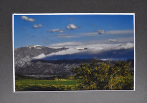 """A Creeping Shadow"" Dawn Colorado Mountain Landscape Fine Art Photography 5x7 Matted Print"