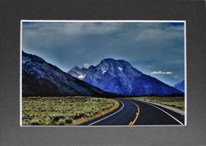 """The Road To..."" Mountain Stormy Landscape Fine Art Photography 5x7 Matted Print"