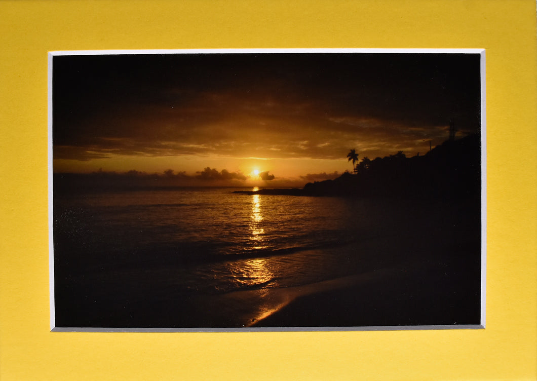 Ocean Tropical Sunset Landscape Fine Art Photography 5x7 Matted Print