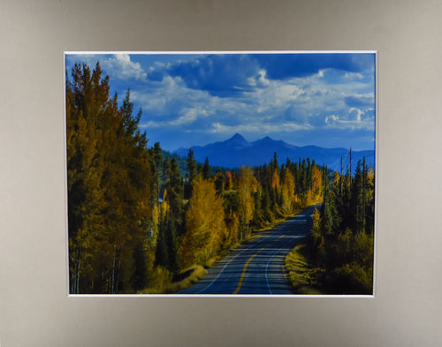 Autumn Colorado Cloudy Mountain Landscape Fine Art Photography 11x14 Matted Print