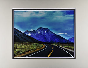 """The Road to Adventure"" Mountain Landscape Fine Art Photography 11x14 Double Matted Print"