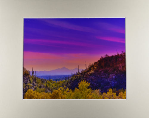 Arizona Mt Lemmon Sunset Mountain Landscape Fine Art Photography 11x14 Matted Print