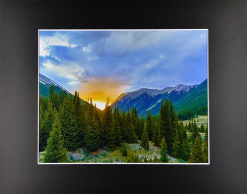 Colorado Sunset Mountain Landscape Fine Art Photography 11x14 Matted Print