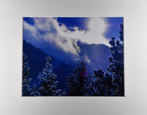 Winter Wonderland Colorado Spring Colorado Mountain Snowy Landscape Fine Art Photography 11x14 Matted Print