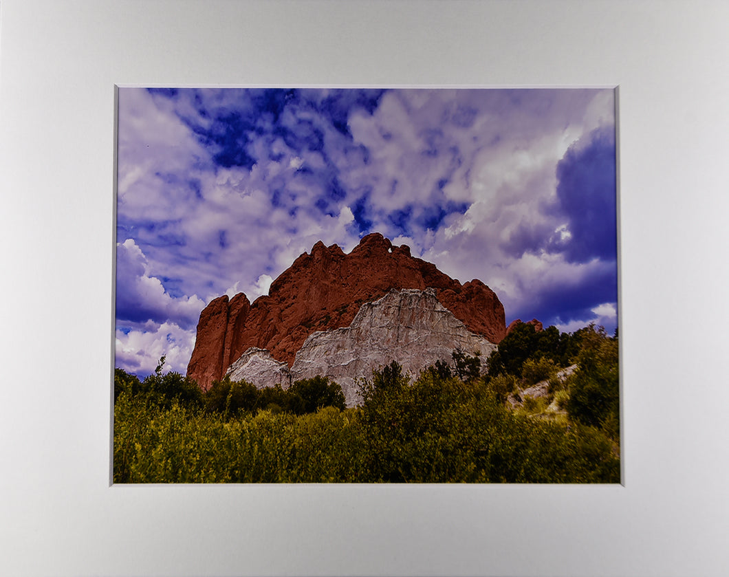 Garden of the Gods Kissing Camels Rock Formation Landscape Fine Art Photography 11x14 Matted Print
