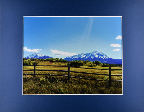 Spanish Peaks Southern Colorado Mountain Landscape Fine Art Photography 11x14 Matted Print