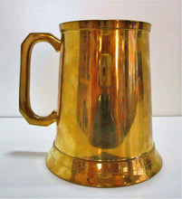 Brass tankard with anchor