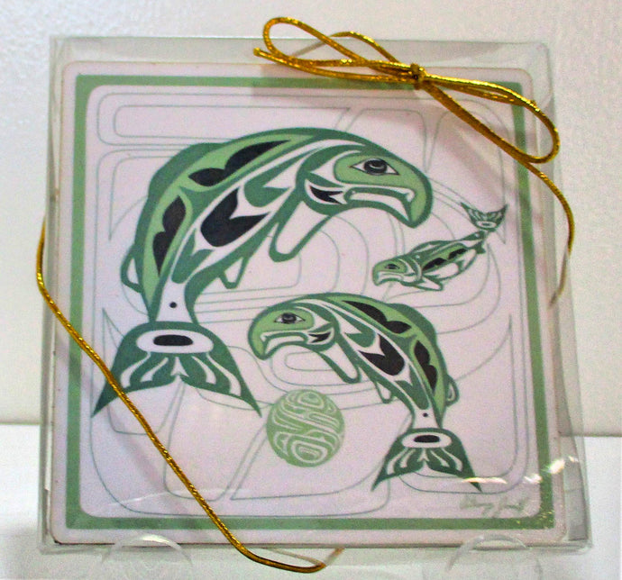 First Nations Design Coasters - set of 4