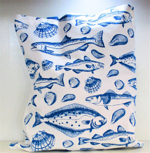 Cotton Bag - Fish Pattern