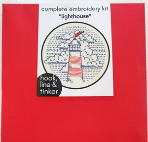 Gift Shop: Embroidery Kit - Lighthouse