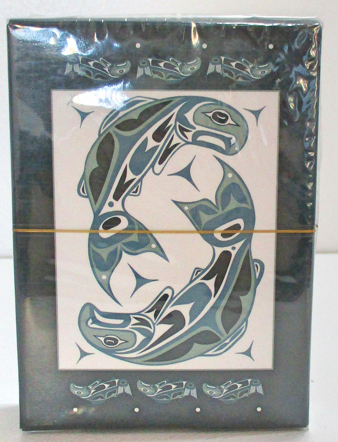 First Nation Salmon Playing Cards