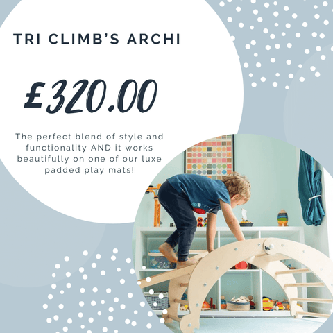 TriClimb Wooden Climbing Frame - Archi