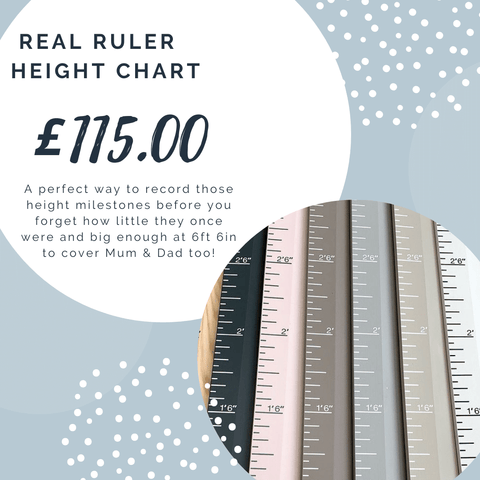 Wooden Painted Height Ruler Chart