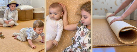 Camel speckled large play mat