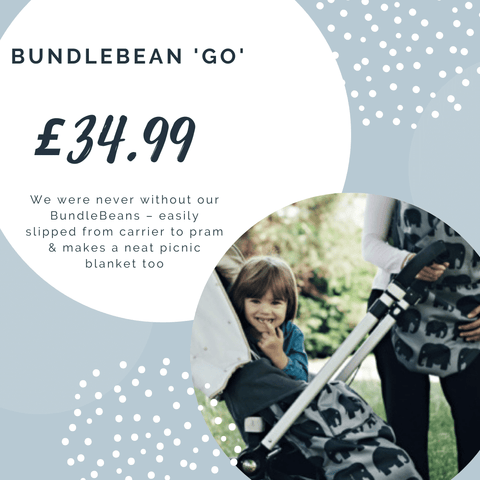 Bundle Bean Go - waterproof buggy and carrier cover