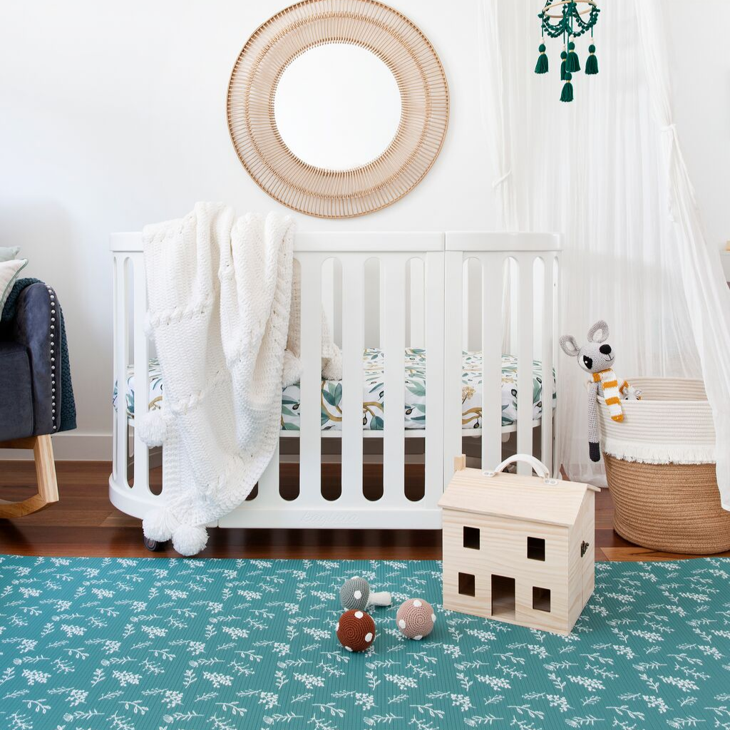 Green padded play mat