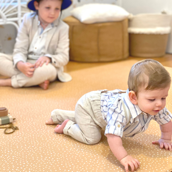 NEW: Large Speckled Play Mat - Camel