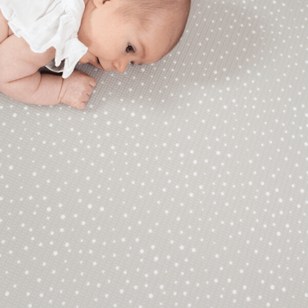 Large Dark Grey Hamptons Padded Play Mat (reverse choices Navy, Seafoam or Peony Pink)