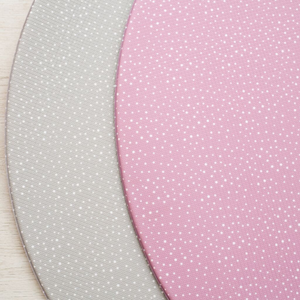 Round Speckled Play Mat - Dusty Pink