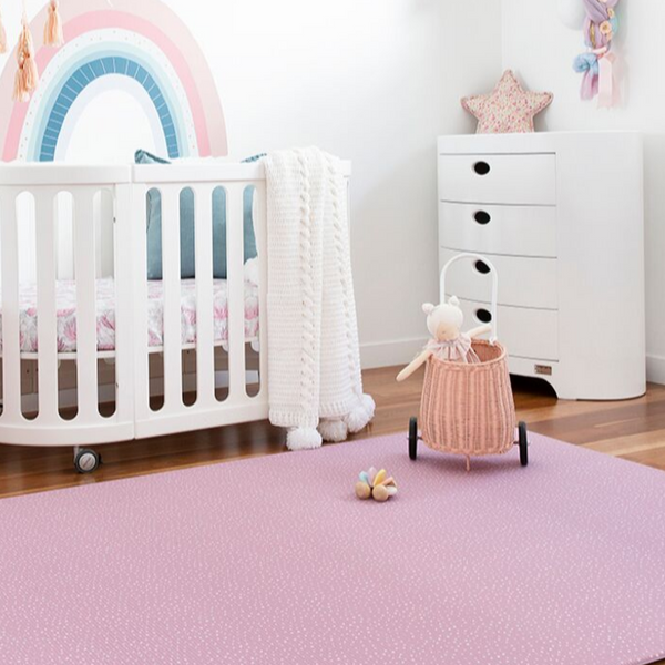 Large Speckled Play Mat - Dusty Pink