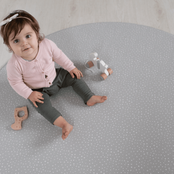 Round Speckled Play Mat - Mint