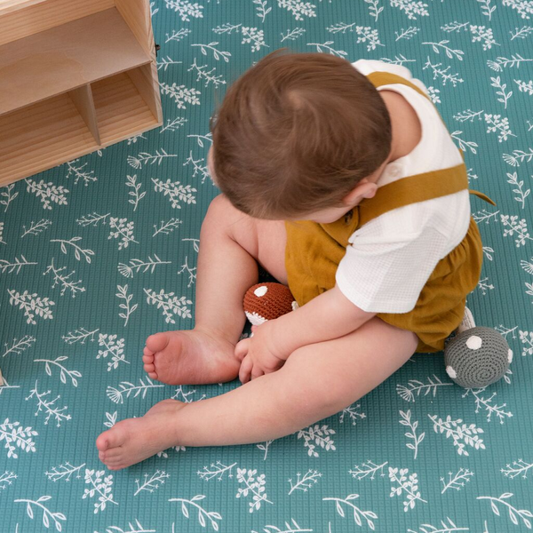 Emerald Green Padded Playmat