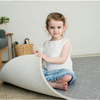 Reversible grey play mat