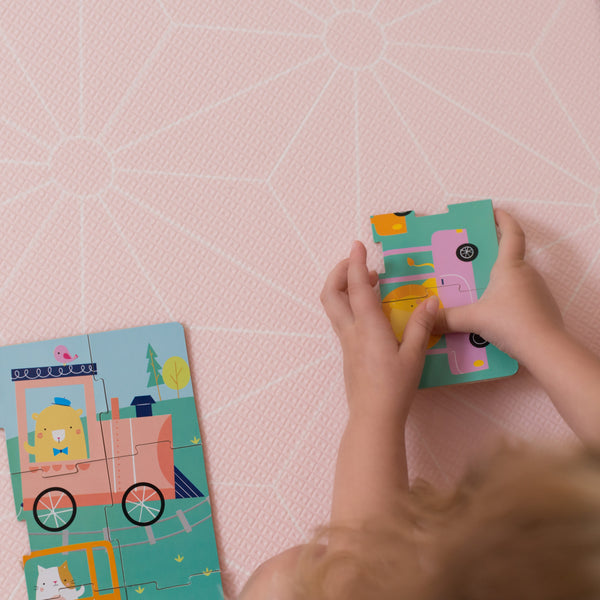 Medium Scandi Stars Play Mat - Blush