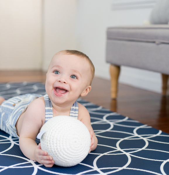 Medium Hamptons Play Mat - Navy