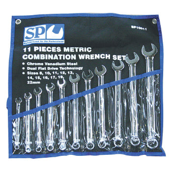 SP Tools SP10011 11pc Metric Combination Spanner Set