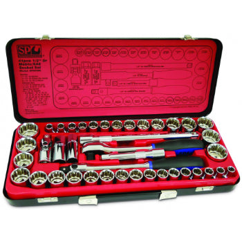 "SP Tools SP20300 Socket Set - 41pc 1/2""Dr 12pt - Metric/SAE"