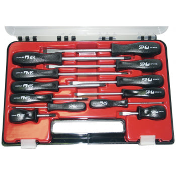 SP Tools SP34000 12pc Screwdriver Set in Plastic Case