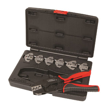Toledo 302018 Crimping Plier Kit Ratcheting Multi-head