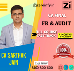 CA Final FR and Audit with 4 Months Validity by CA Sarthak Jain Sir