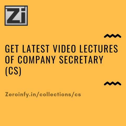 Company Secretary (CS) Video Lectures