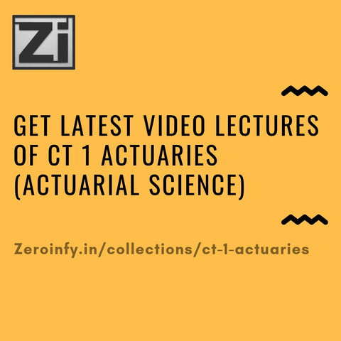 CT 1 Actuaries (Actuarial Science)
