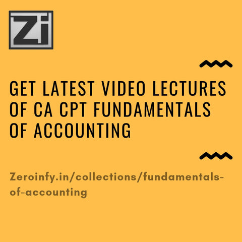 CA CPT Fundamentals Of Accounting