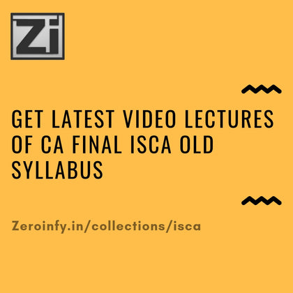 CA Final Old Syllabus ISCA