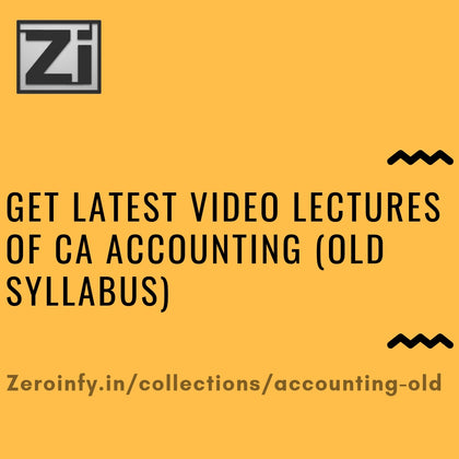 CA Accounting (Old Syllabus)