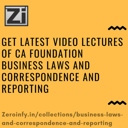 CA Foundation Business Laws And Correspondence And Reporting