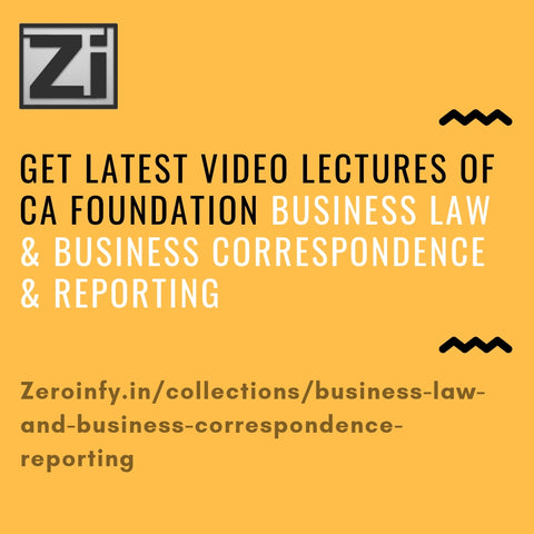 CA Foundation Business Law and Business Correspondence & Reporting