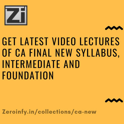 CA Final New Syllabus/Intermediate/Foundation