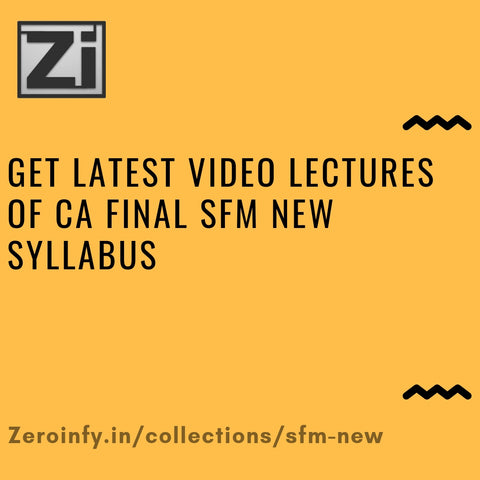 CA Final SFM New Syllabus