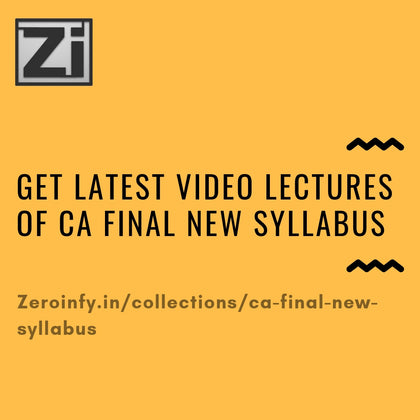 CA Final New Syllabus