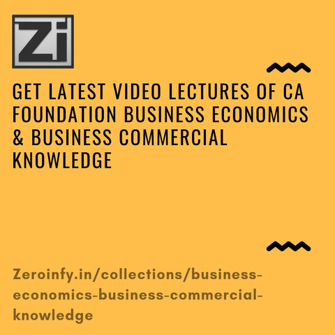 CA Foundation Business Economics & Business Commercial Knowledge