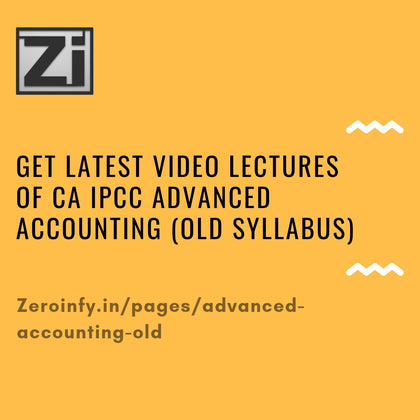 CA IPCC Advanced Accounting (Old Syllabus)