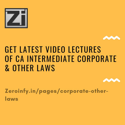 CA Intermediate Corporate & Other Laws
