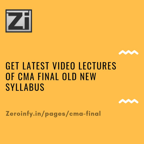 CMA Final Old New Syllabus