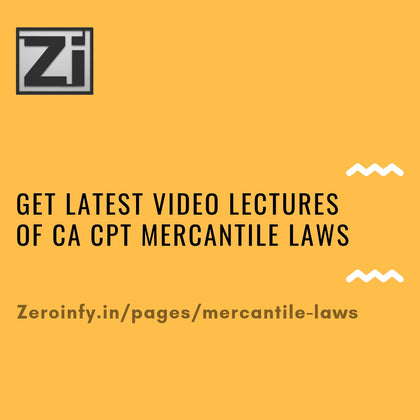 CA CPT Mercantile Laws