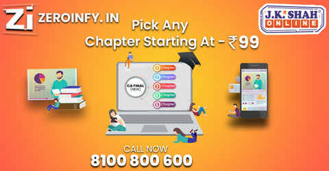 CA Final - JK Shah Classes - Pick any Chapter Starting from 99
